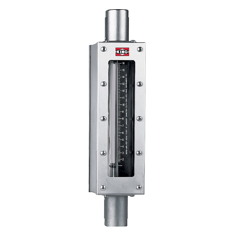 King Instruments 7910 Series rotameter for liquids and gases.